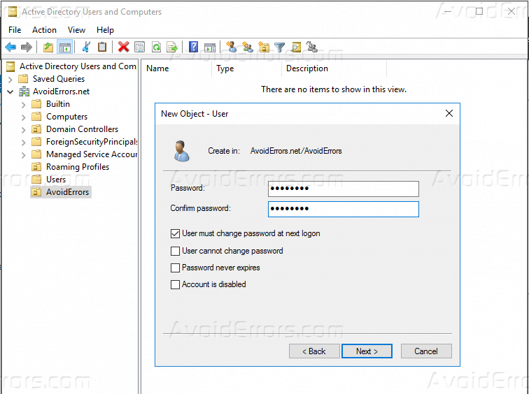 2 Ways to Create a New User in Windows Server 2016 - AvoidErrors