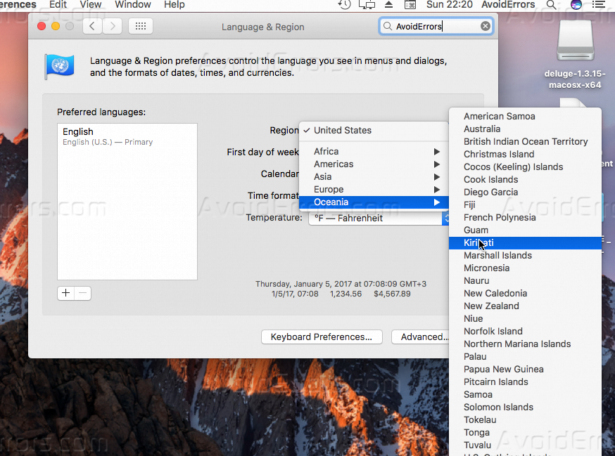 how to change language on mac laptop