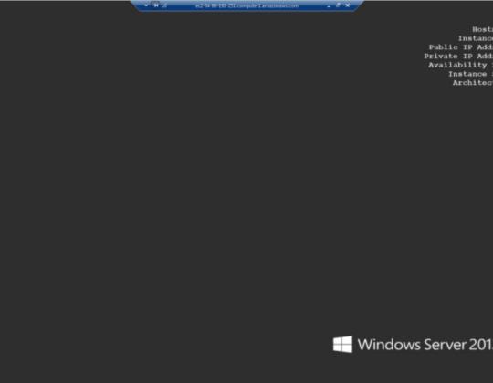 How to launch a Windows Virtual Machine on Amazon AWS