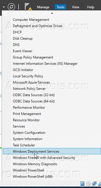 Configure Windows Deployment Services on Windows Server 2016