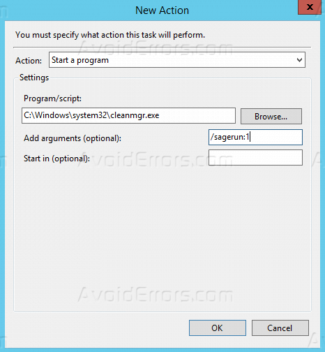 How to Setup Auto Disk Cleanup in Windows Server 2012