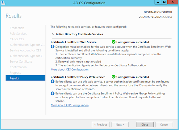 Deploying a Windows Server 2012 R2 Certificate Authority