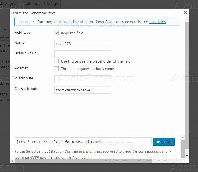 create new form add field
