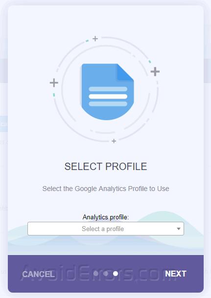 monsterinsights analytics choose profile