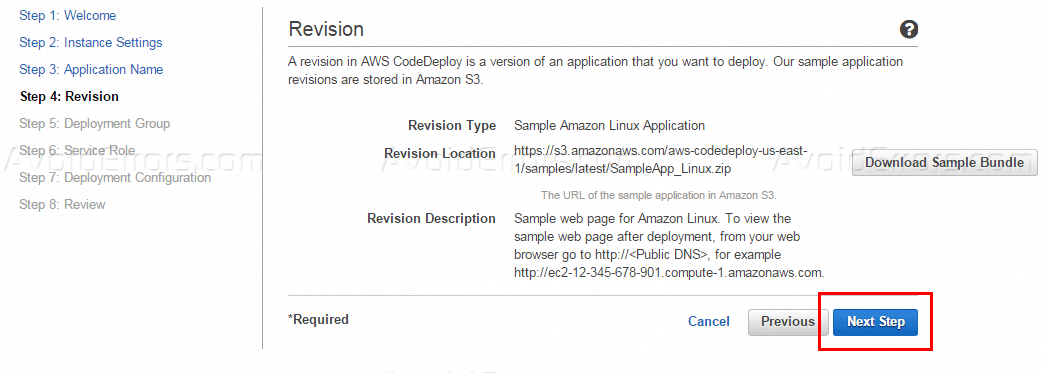 Deploy Application Code to a Virtual Machine on Amazon AWS
