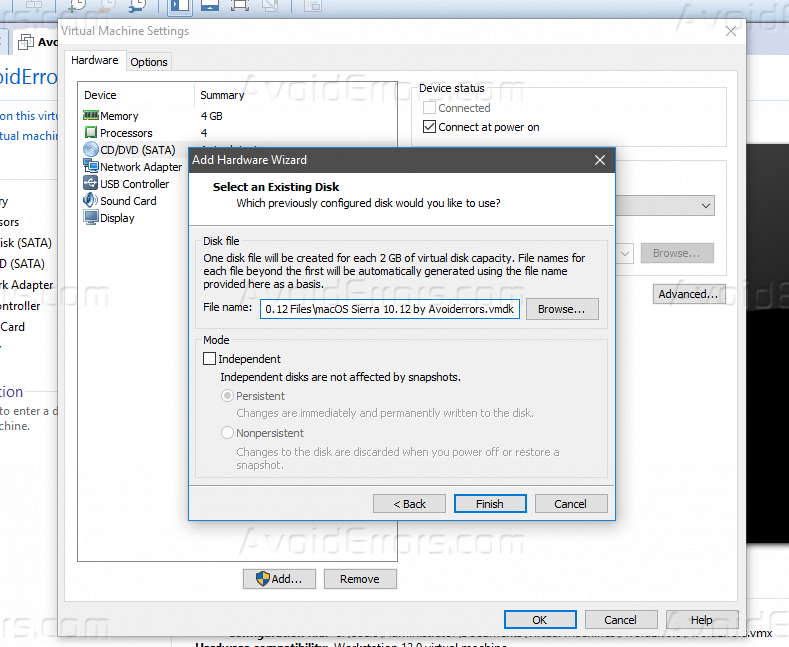 How to Install MacOS Sierra on VMware - AvoidErrors