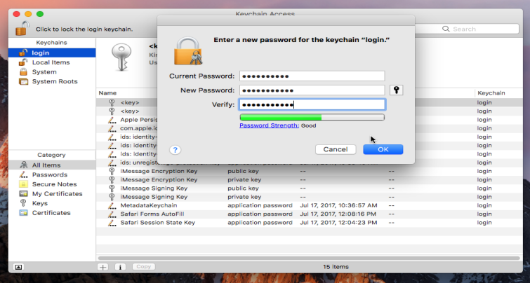 How to Fix Mac keeps asking for the login Keychain Password