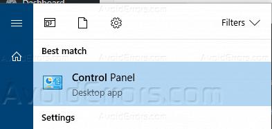 Hide Specific Control Panel Items - Windows 10 - AvoidErrors