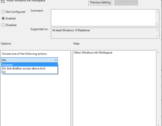 How to Disable Windows Ink Workspace – Windows 10