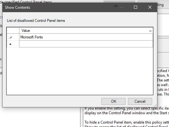 Hide Specific Control Panel Items – Windows 10