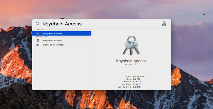 mac keychain access keeps popping up