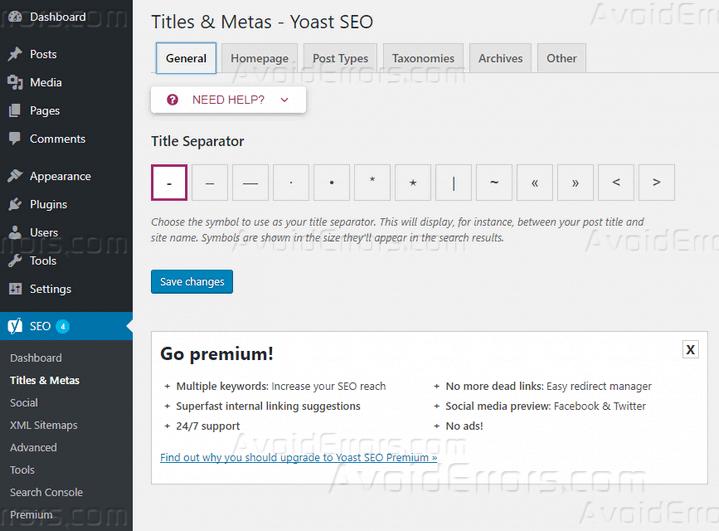 How to Set Up Yoast SEO for WordPress - AvoidErrors