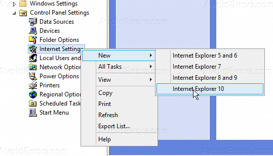 How to Force Proxy Settings via Group Policy on Windows Server 2012