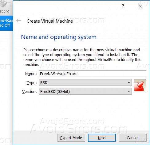 How To Install FreeNAS On Virtual Box - AvoidErrors