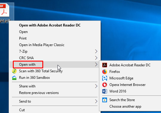 How To Remove Open With Context Menu in Windows 10
