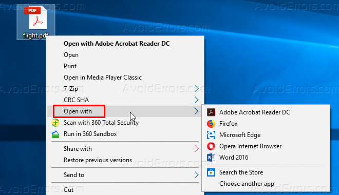 How To Remove Open With Context Menu in Windows 10 - AvoidErrors