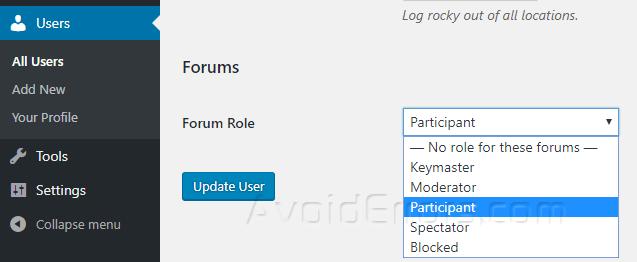 bbpress user roles