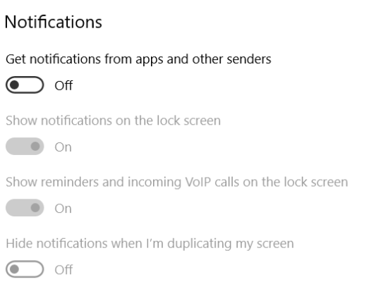 How to Disable all Windows 10 Notifications