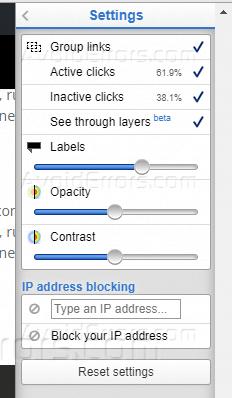 heatmap settings options