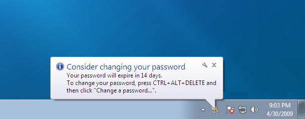 windows password change prompt