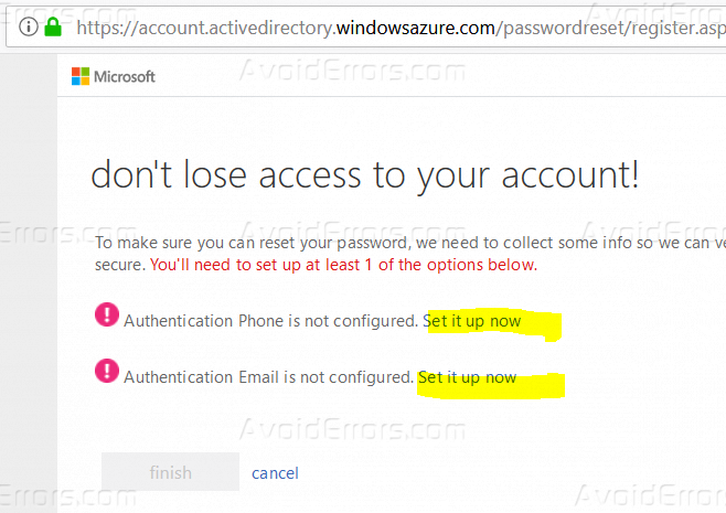 Enable Self Service Password Reset (SSPR) in Office 365