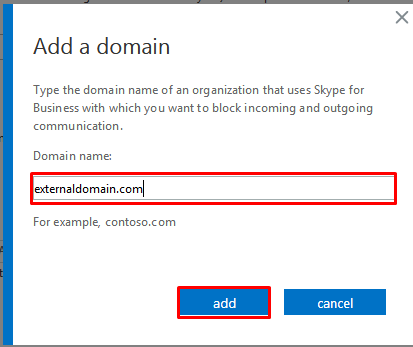 external domain