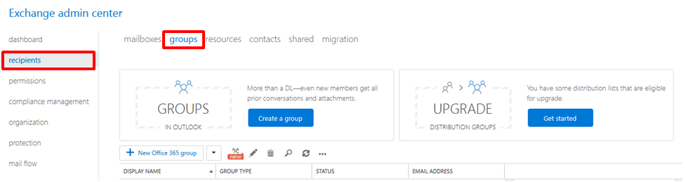 How to create a distribution group for external email addresses in office 365