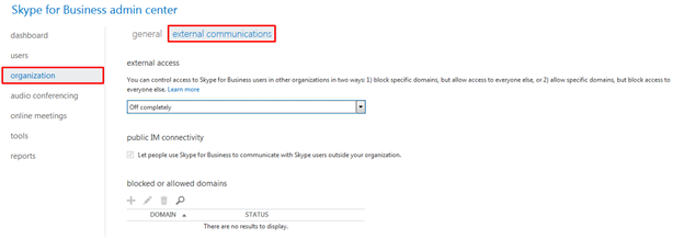 How To Communicate with Skype for Business users outside