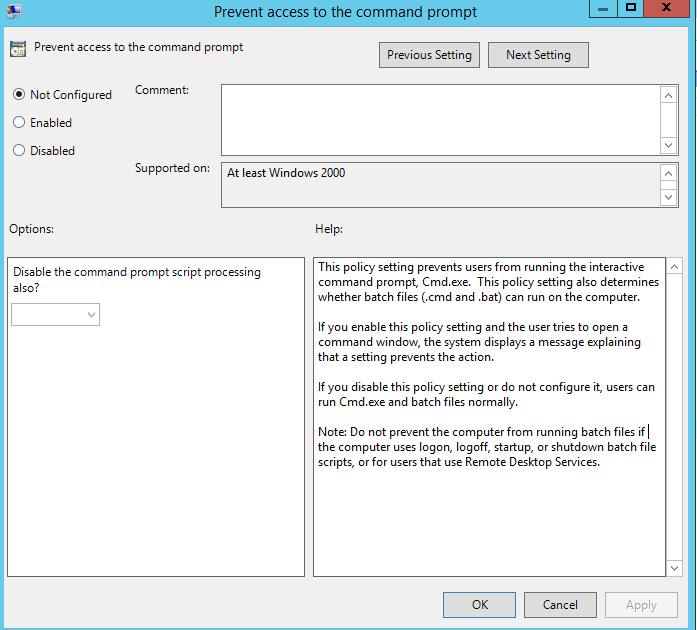 How to Disable Run Command Prompt using Group Policy