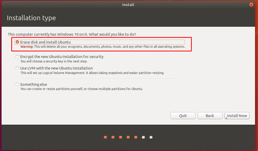 Completely Remove Windows 10 and Install Ubuntu - AvoidErrors
