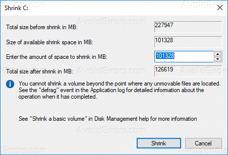 How to Partition a Disk by Shrinking the Volume