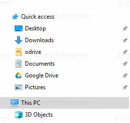 Disable Recent Files and Folders in Quick Access Windows 10