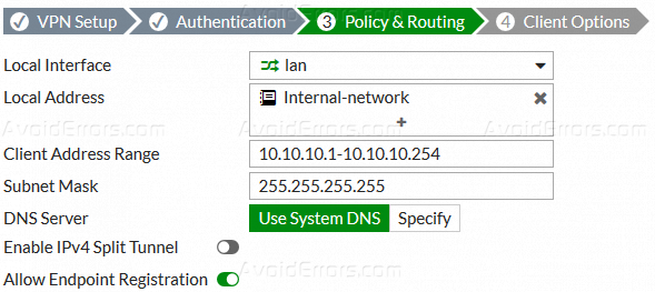 How to Create IPSec VPN with FortiClient - AvoidErrors