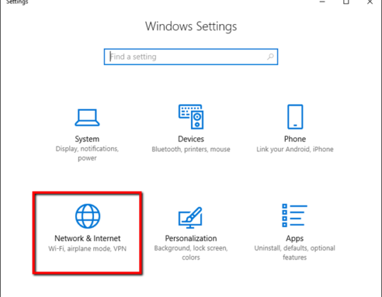 Disable Proxy Server in the Browser and Windows