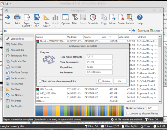 How to use Folder Sizes Application