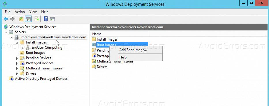 Configure Windows Deployment Services On Server 2012 R2