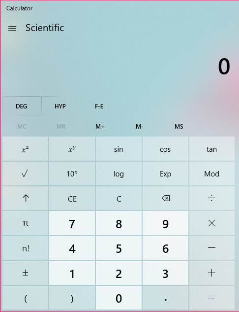 How to Use Advance Mode Calculator - Windows 10 - AvoidErrors