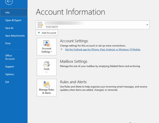 How to Setup Auto Mail Sync Time in Outlook 2016