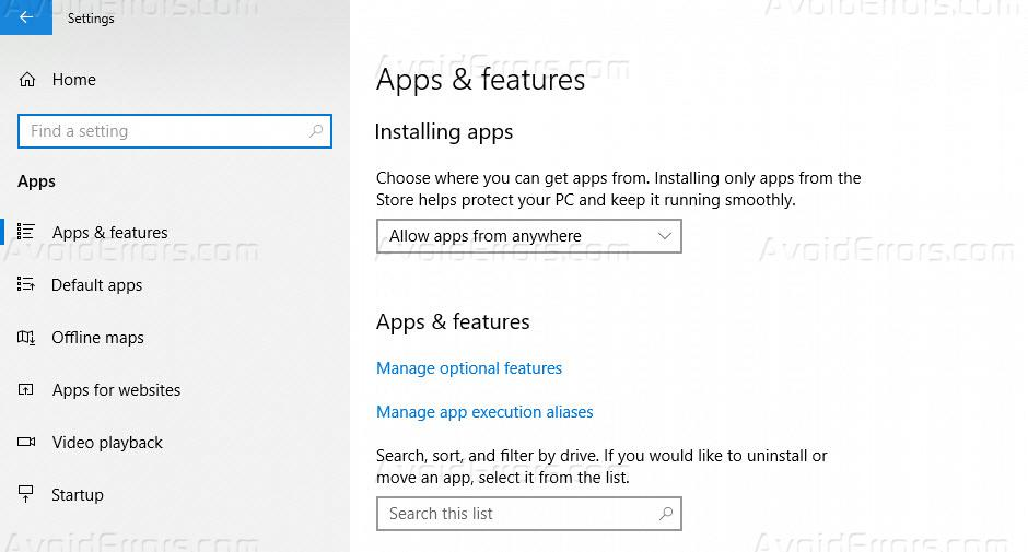 How to Disable Startup Applications in Windows 10 - AvoidErrors