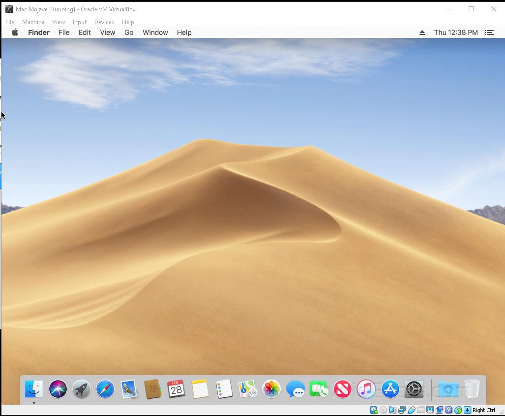 Mac Mojave on Virtual box 16