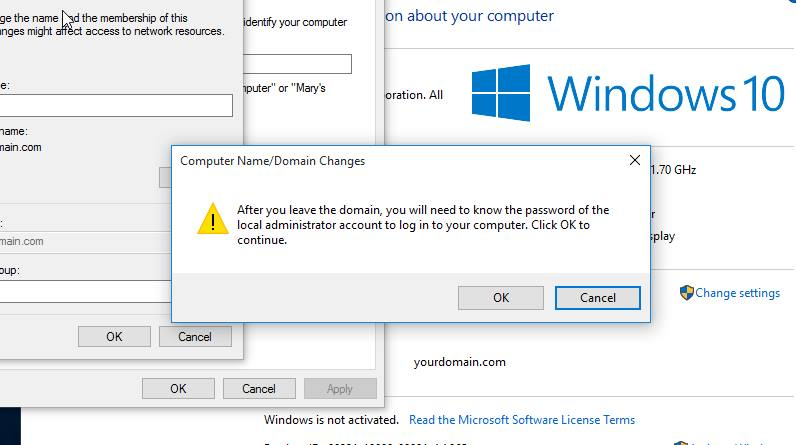 How to Unjoin the Domain from Windows 10 Computer - AvoidErrors