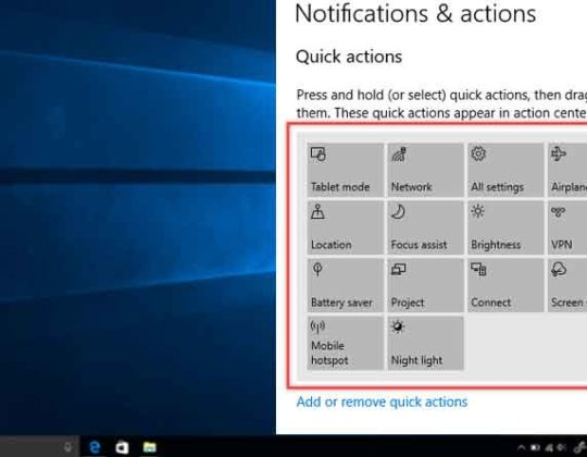 How to Edit Quick Action Center Button – Windows 10
