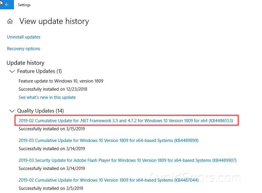 How to Uninstall Windows 10 Updates - AvoidErrors