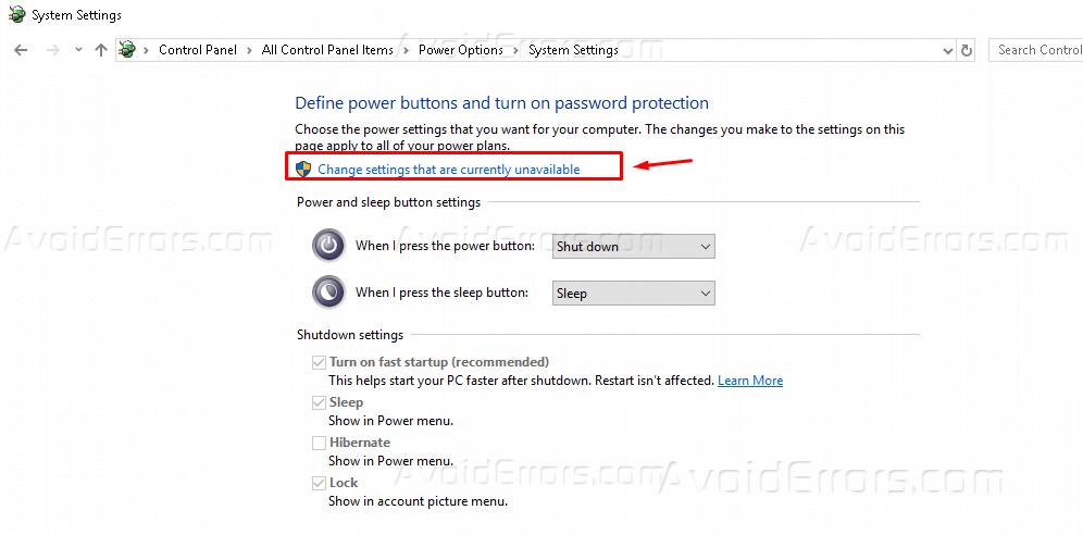 How to Disable Sleep Mode or Hibernation - Windows 10 - AvoidErrors