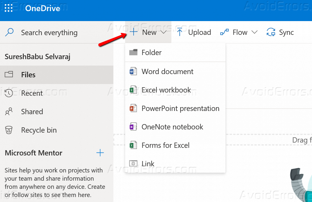 How to Use OneDrive for Business Office 365 - AvoidErrors