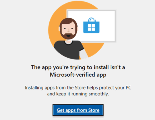 """Turn off """"The App You Are Trying To Install Isn't A Verified App From Store"""" Message – Windows 10"""