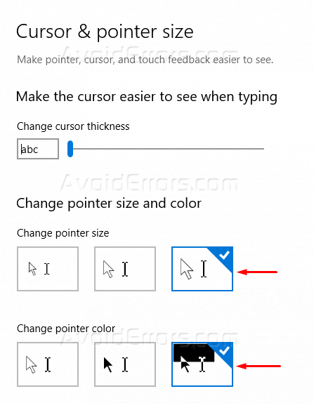 How to Customize Cursor in Windows 10 - AvoidErrors