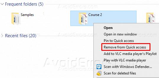 Cách xóa tệp / thư mục khỏi Windows 10 Truy cập nhanh