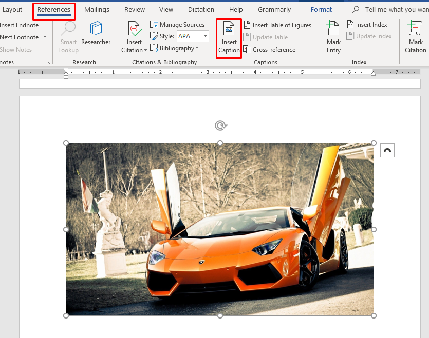 How to Create and Update Table of Figures in MS Word 2016