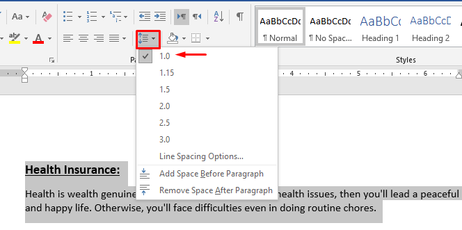 Cách Cài Double Line Spacing trong MS Word 2016 - 2019